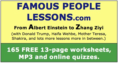 Famous People English Lessons: 167 Biographies and ESL Lesson Plans